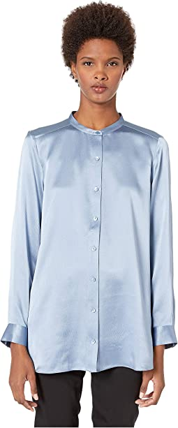 41301ba6d01c6f Haze. 14. Eileen Fisher. Mandarin Collar Long Shirt