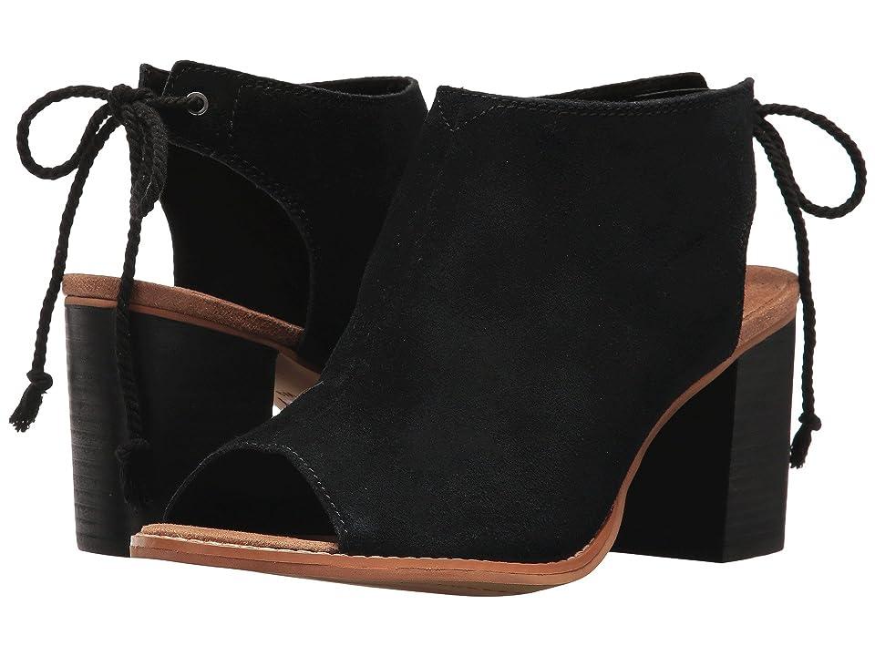 TOMS Elba (Black Suede) High Heels