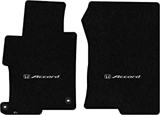 Lloyd Mats LogoMat Custom Floor Mats for Honda Accord Sedan 2013-2017 2Pc Front Set, Black Carpet Mats