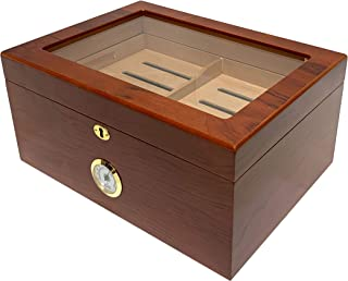 Quality Importers Glass-Top Humidor (75-100 Cigars)