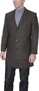 The Suit Depot Men's Wool Cashmere Single Breasted 3/4 Length Peacoat, Topcoat