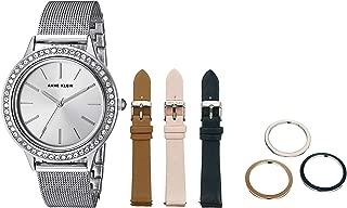 Anne Klein Women's Swarovski Crystal Accented Watch with Interchangeable Straps and Bezels
