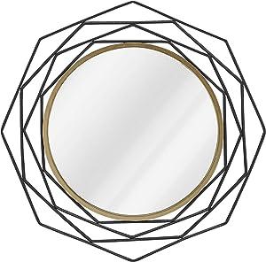 H HOMEBROAD. Black Geometric Wall Mirror, 28