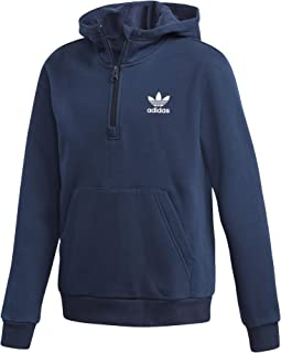 840e4deea6dbe adidas Originals Junior Boys Collegiate 1/2 Zip Hoody in Navy- Zip at Collar