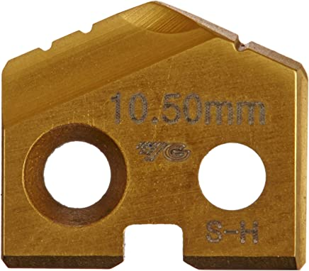TiN Finish 3.2mm Thick YG-1 S060 Cobalt Steel Throw Away Spade Drill Insert Pack of 1 13.0mm Diameter