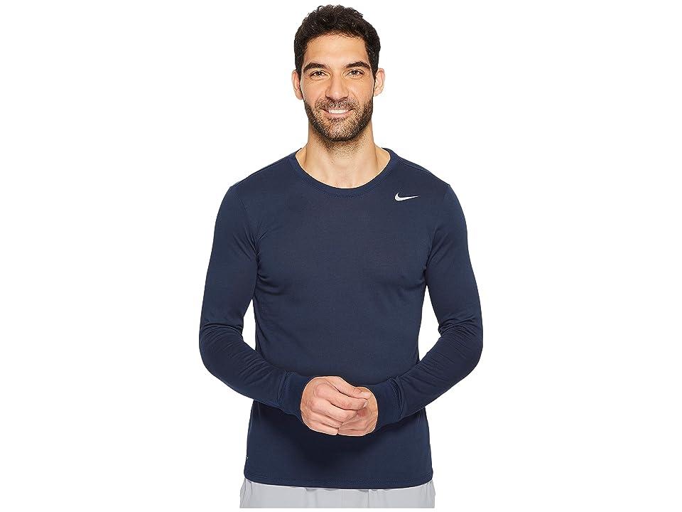 Nike Dry Training Long Sleeve T-Shirt (Obsidian/Obsidian/Matte Silver) Men