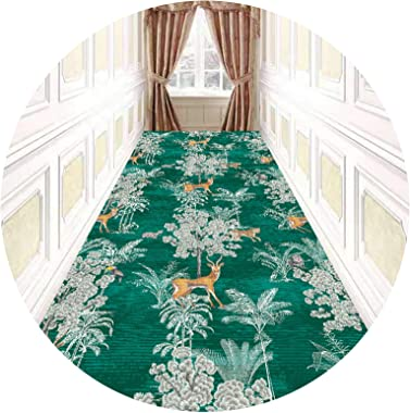 Floral Hallway Runner Rug 3M / 4M / 5M / 6M / 7M Long, Modern Area Rugs Carpet, Entryway Hallway Stairence Multipurpose Floor