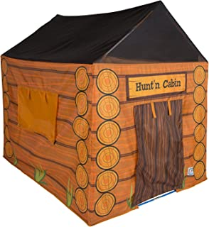 Image of Pacific Play Tents 61804 Kids Hunt'n Cabin Tent Playhouse, 48' x 38' x 48', Brown