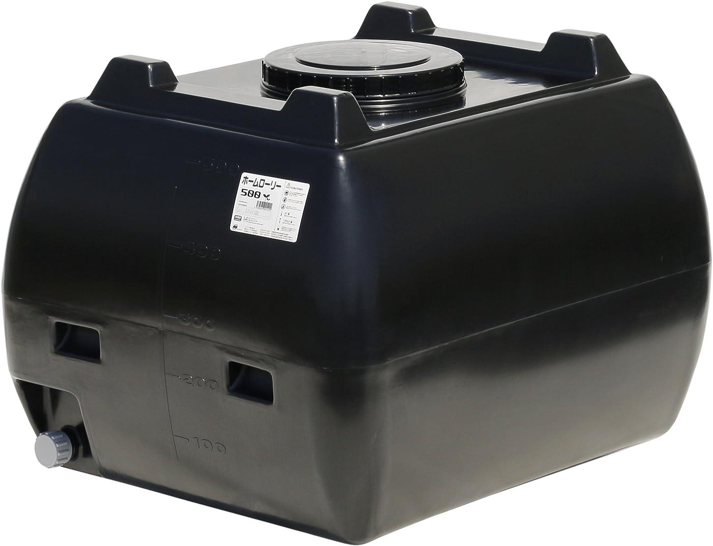 意気揚々好意ホイップスイコー ホームローリータンク 500L (ブラック)
