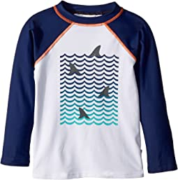 Appaman Kids - UPF 50+ Shark Fin Long Sleeve Rashguard (Toddler/Little Kids/Big Kids)