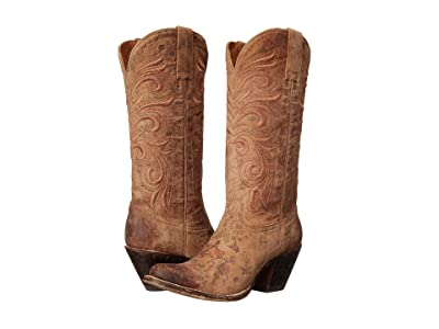 Lucchese Laurelie (Brown Floral Print) Cowboy Boots