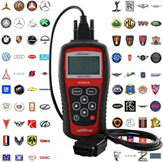 wuy Professional EOBD OBD2 OBD II Scanner Car Computer Vehicle Diagnostics Tool Auto Code Reader for VW/Audi (Color Red) Engine Reset Tool