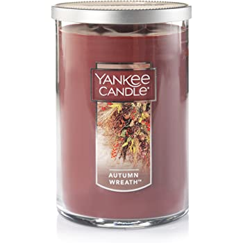 Yankee Candle Large 2-Wick Tumbler Candle, Autumn Wreath