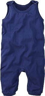 wellyou Baby-Strampler, Kinder-Strampler, blau, Strampelanzug für Jungen und Mädchen, Single-Jersey aus 100% Baumwolle