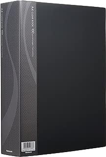 ナカバヤシ A4クリアブック クリアファイル 100ポケット ブラック CB1036D-N
