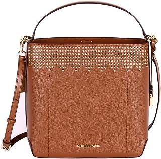 MICHAEL Michael Kors Hayes Bucket Brown Large Shoulder Bag - Luggage/Ballet