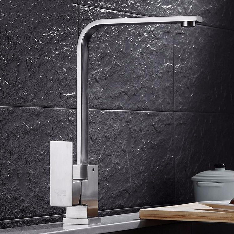304 edelstahl wasserhahn heien und kalten küchenarmatur gebürstet bleifrei rotierenden einlochbecken waschbecken waschbecken wasserhahn