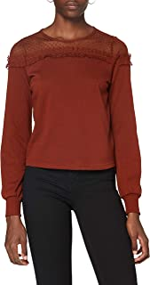 Only Onlcherry L/S Mesh O-Neck Swt Sudadera para Mujer