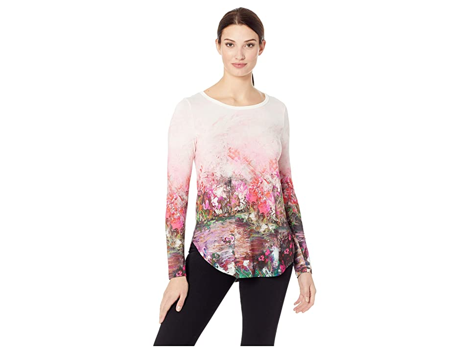Karen Kane Long Sleeve Shirttail Tee (Print) Women