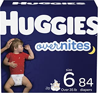 Nighttime Baby Diapers Size 6, 84 Ct, Huggies Overnites