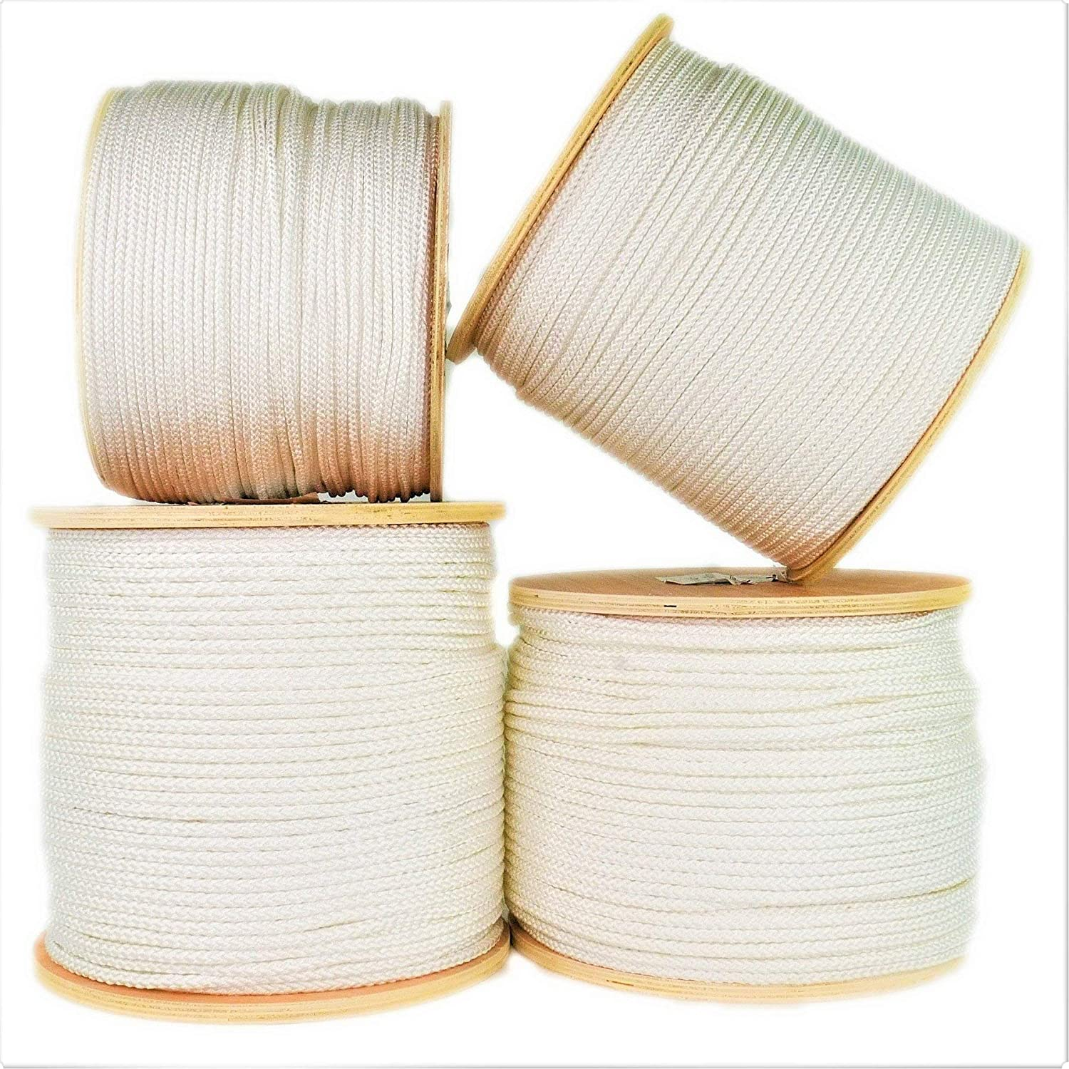 SGT KNOTS Crab Fishing Line Diamond Braid Utility Cord with Parallel Core 9//32 x 25ft Coil, White Abrasion Resistant