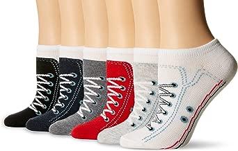 K. Bell Socks Women's 6 Pack Novelty No Show Low Cut Socks