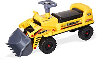 KARMAS PRODUCT Ride-on Bulldozer,4 Wheels Front Loader Tractor for Kids Pretend Play Construction Truck