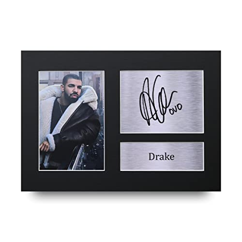 597e51aa259 HWC Trading Drake Gift Signed A4 Printed Autograph Music Gifts Print Photo  Picture Presentation Display
