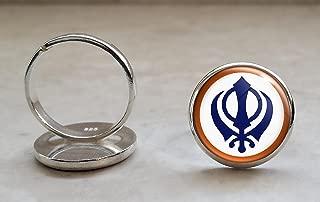 khanda ring design