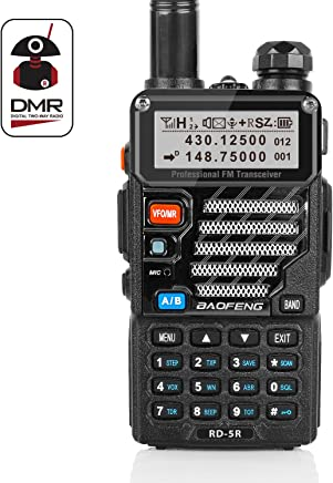 Radioddity x Baofeng RD-5R DMR Ham Amateur Two Way Radio, VHF/UHF Dual Band Dual Time Slot Walkie Talkie 1024 Channels Tier I & II Compatible with MOTOTRBO, Free Programming Cable