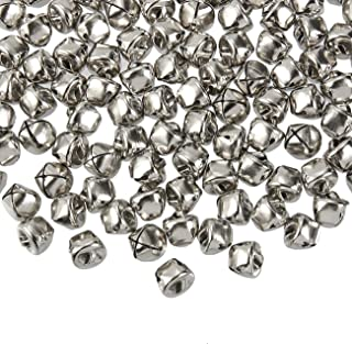 Jingle Bells - 200-Count Craft Silver Bells, Christmas Sleigh Bells for Wreath, Holiday Home Decoration, DIY Art Crafts, Silver Metal, 0.5 x 0.5 x 0.5 Inches