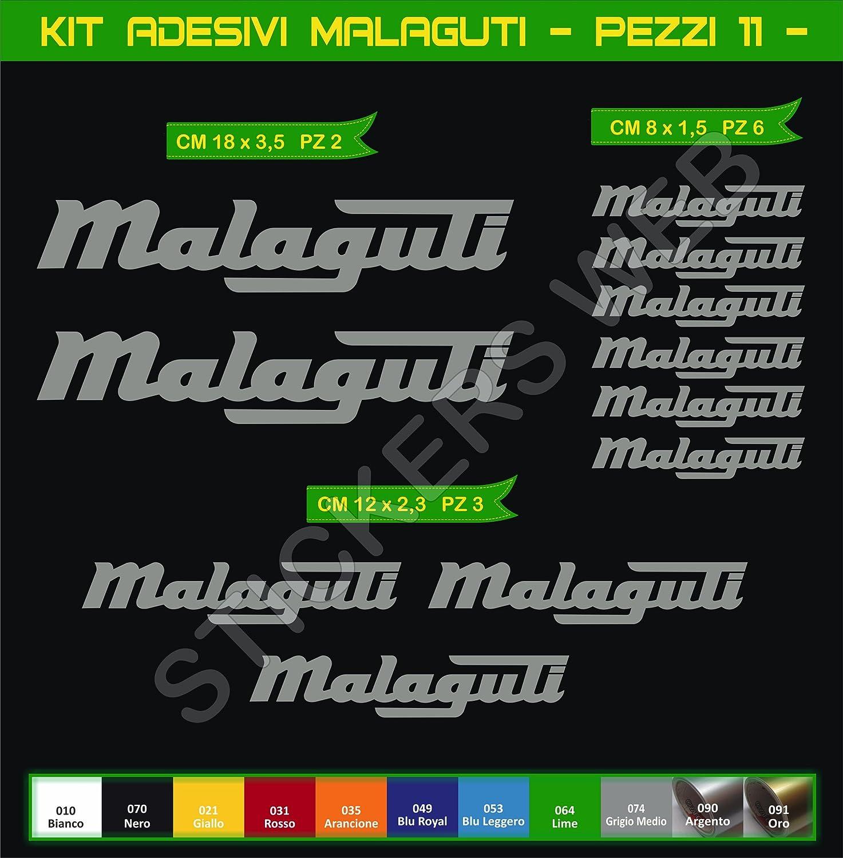 Aufkleber Stickers Malaguti Motorrad Cod 0570 Arancione Cod 035 Sport Freizeit