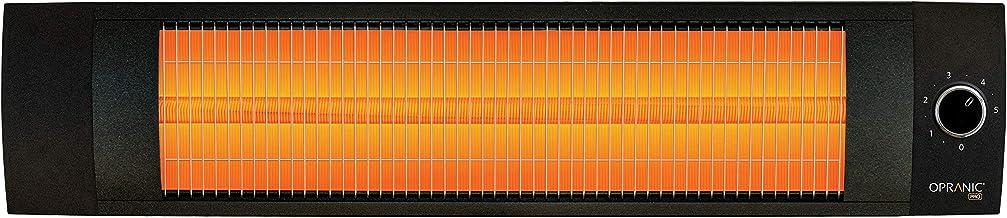 OPRANIC Pro - Lava Calentador infrarrojo, 1500 vatios, IPX4 a Prueba de Salpicaduras, termostato, Perla Negro, terraza Infrarrojos, Calentador de Patio Alta Potencia Eléctrico con Larga duración