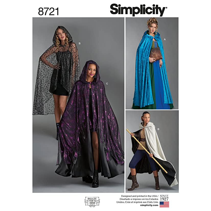 Simplicity Creative Patterns US8721OS Pattern 8721 Misses Capes Costumes