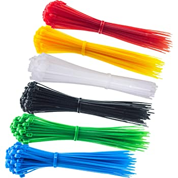 75pc Cable Ties; 4 inches; 5 Color Choices