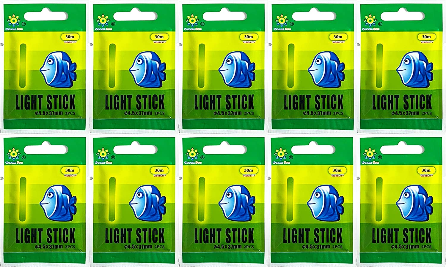 Glow Stick 1.45 Sale Special Price Inch Night Fishing Green Nippon regular agency Light 20 Pa Fluorescent