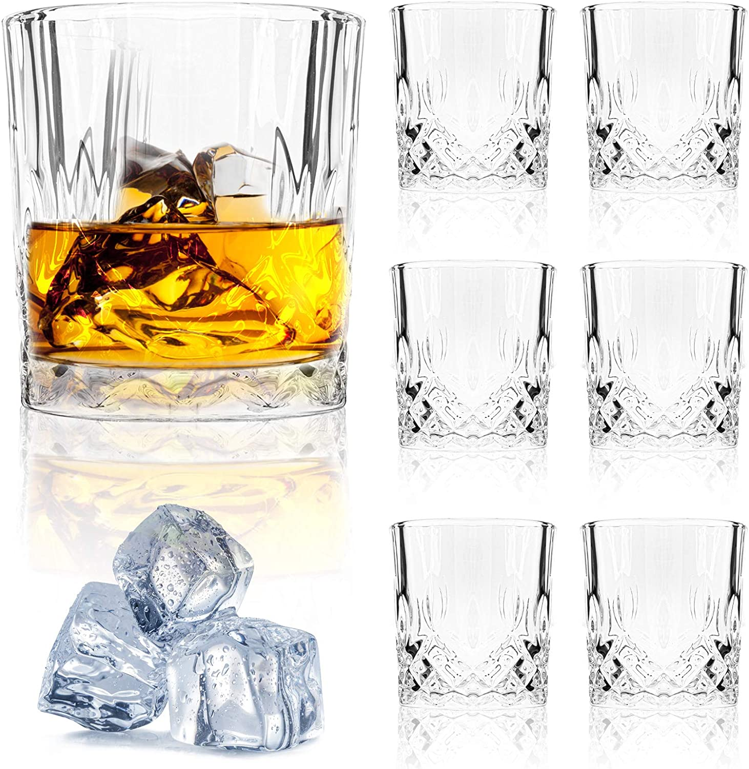 Set of 6 70% OFF Outlet Old Fashioned Whiskey for Glasses set Ranking TOP3 Rocks Bo