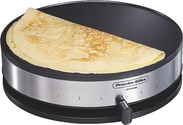 Proctor Silex 38400 Electric Crepe Maker 13 Inch Griddle Spatula