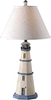 Kenroy Home 20140AW Nantucket Lighthouse Table Lamp, 31 Inch Height, 16 Inch Diameter, Antique White