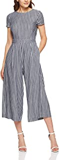 French Connection Women's Cross Back Jumpsuit, Navy/Summer White