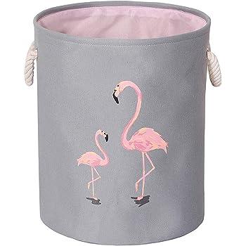 Gift Basket by Mofeng Kid/'s Toys Toy Organizer Basket Bin SG/_B077M4N3LH/_US Kids Toys Closet /& Laundry Flamingo Toy Storage Bins Canvas Collapsible Storage Basket with Handles Toy Organizer for Nursery