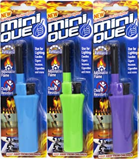 Elite Brands USA Mini Tube Refillable Long Reach Adjustable Flame Multipurpose Lighters, Ideal for Candle Camping Grilling Cigarette, Barbeque Lighters, Value Pack of 3