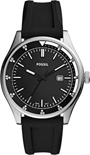 Fossil Men's Quartz Wrist Watch analog Display and Silicone Strap, FS5535