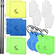 16 Pieces Flute Cleaning Kit Flute Cleaning Cloth and Rod Flute Instrument Cleaning Accessories with 10 Pieces Cleaning Cl...