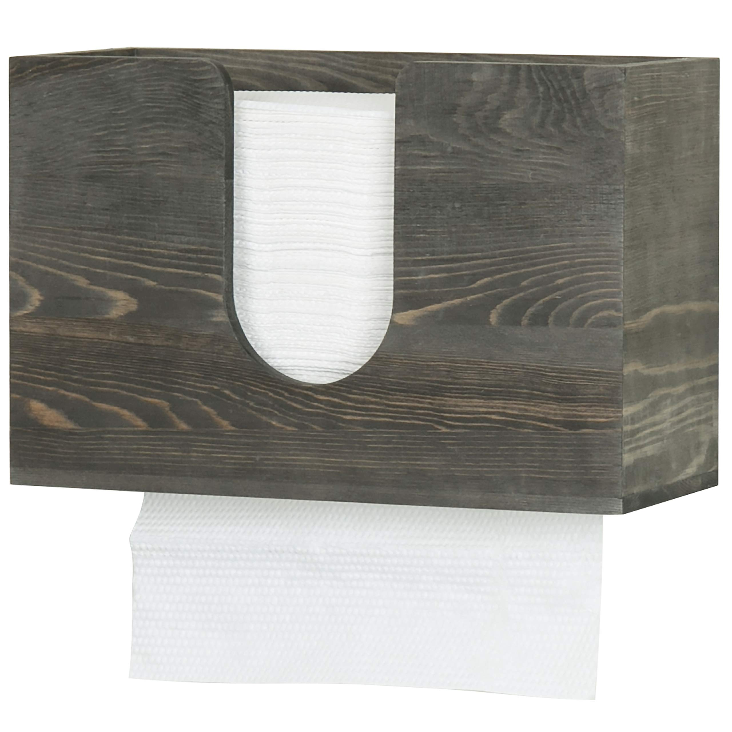 Amazon Com Mygift Vintage Gray Wood Multifold Z Fold C Fold Trifold Paper Towel Dispenser Wall Mounted Countertop Bathroom Paper Towel Holder Kitchen Dining