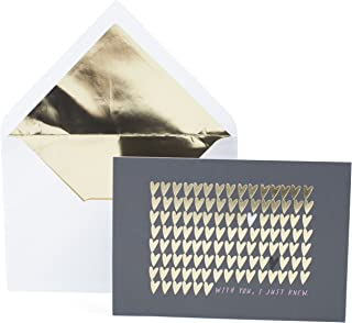 Hallmark Signature Anniversary Card or Love Card for Significant Other (Gold Foil Hearts)