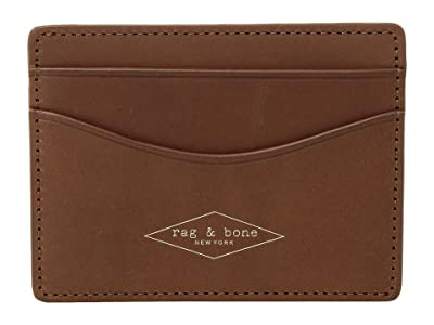 rag & bone Hampshire Card Case (Brown) Credit card Wallet