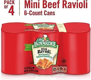 Chef Boyardee Mini Beef Ravioli, 15 oz Cans (Pack of 24)
