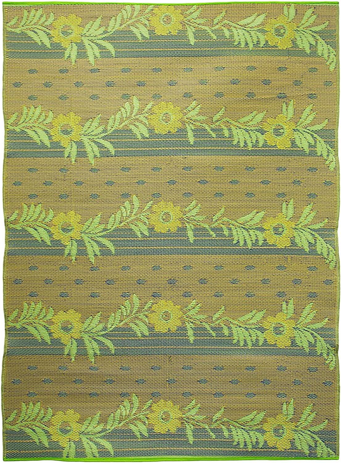 Achla Designs Vines Floor Mat, 6 by 8-Inch, gold