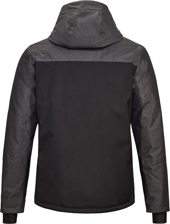 35596-000 Killtec Mens Tirano MN Ski Jacket A Functional Jacket with Zip-off Hood and Snow Guard mens Functional jacket with zip-off hood and snow guard
